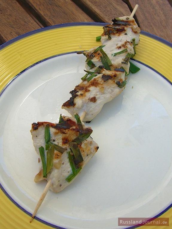 Chicken Shashlik in Nut Marinade