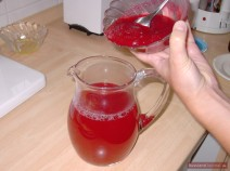 Stir in fresh cranberry juice. Serve cold.