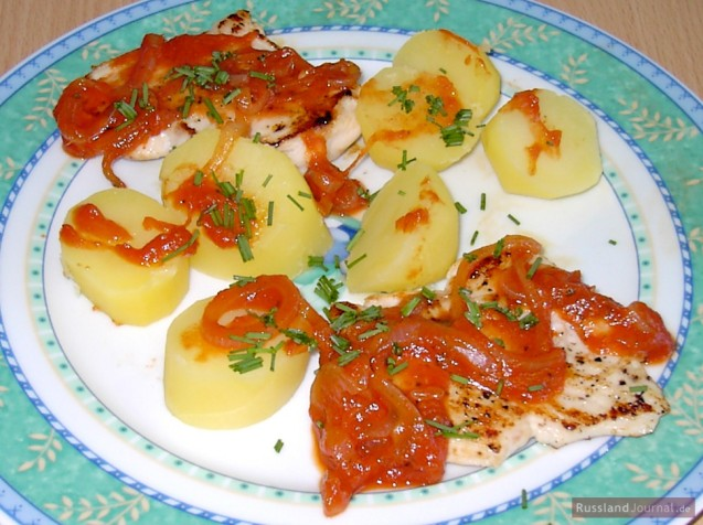 Fish in tomato sauce english for Fish in tomato sauce