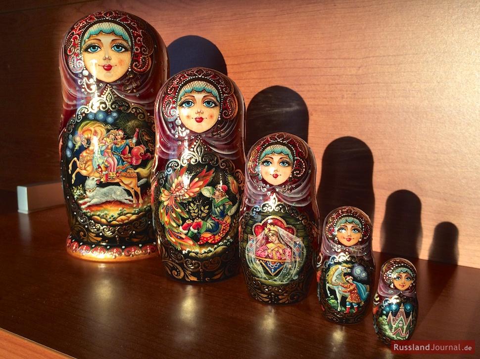 Matryoshka with russian fairy tales