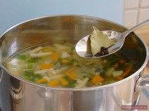 Add butter, mix well together and simmer for 3 minutes.