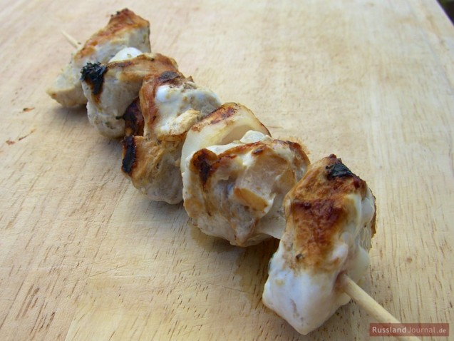 Pork Shashlik in Kefir Marinade