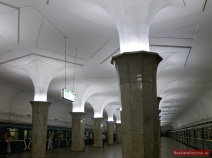 Hall of Kropotkinskaya Metro Station in Moscow