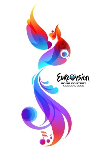 Firebird and logo of the Eurovision Song Contest 2009 in Moscow