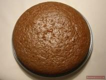 Испеченный торт Трухлявый пень на тарелке
