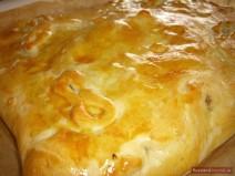 Румяный пирог из печи