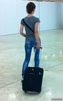 Am Flughafen mit Gepäck