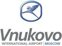 Logo des internationalen Flughafens Vnukovo in Moskau