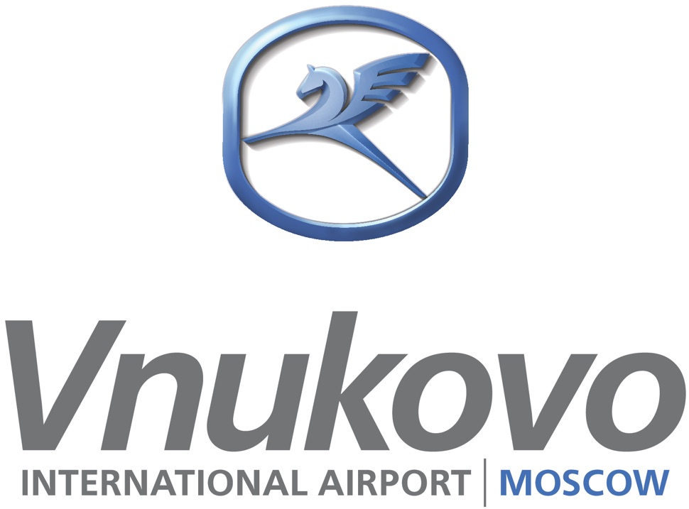 Logo des internationalen Flughafens Vnukovo in Moskau