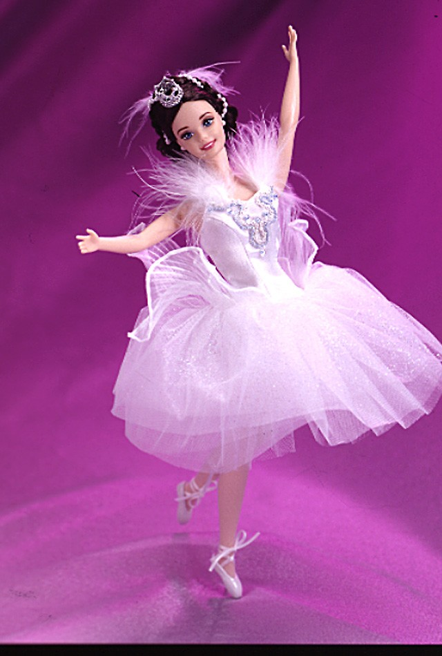 Barbie als Schwanenkönigin aus dem Schwanensee,