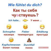 Wörter für Krankheiten auf Russisch und Deutsch