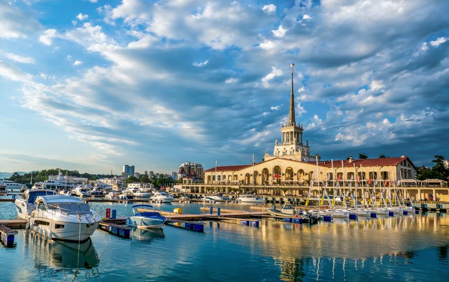 Der Hafen von Sotschi