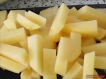 Bohnen-Borschtsch Kartoffel Stifte