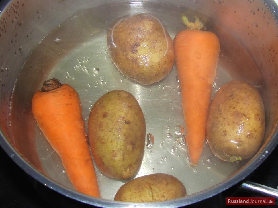 Kartoffel und Karotten