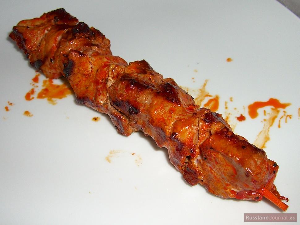 Schweine-Schaschlik in raffinierter Rotwein-Granatapfel-Marinade