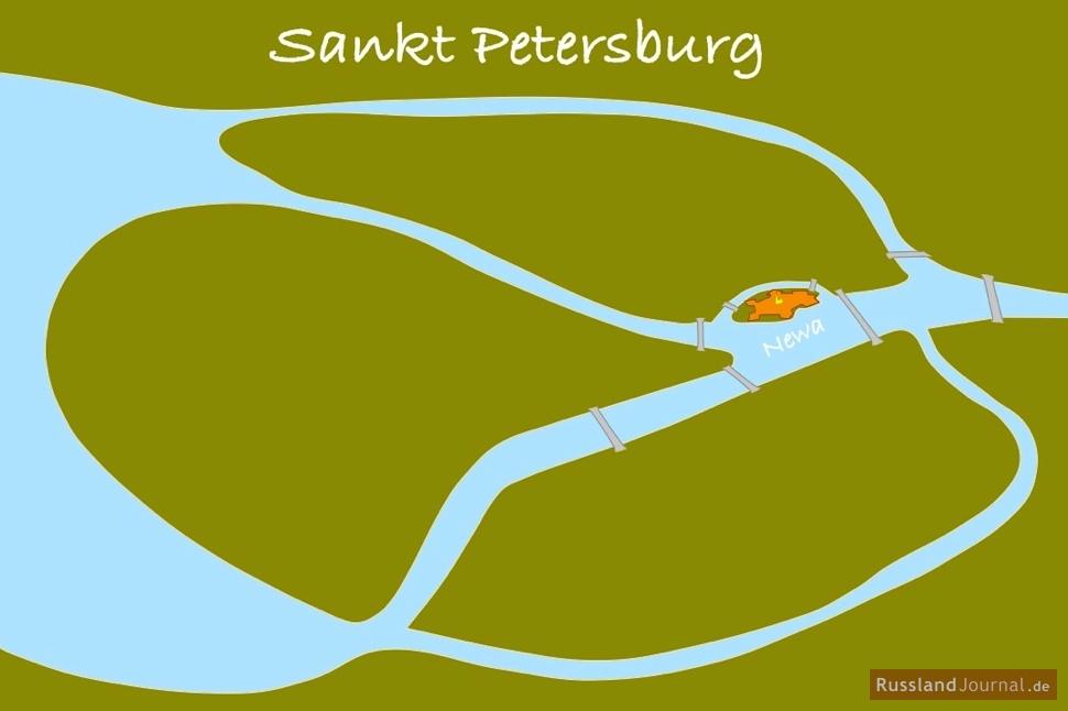 Peter-Paul-Festung: Lage