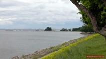 Blick auf die Anlegestelle vom Unteren Park