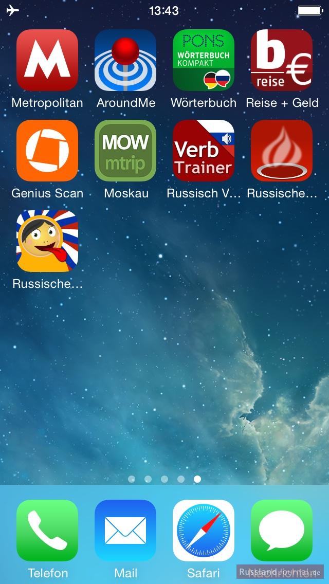 Apps für Russland Reise