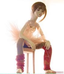 Ballettänzerin als Puppe