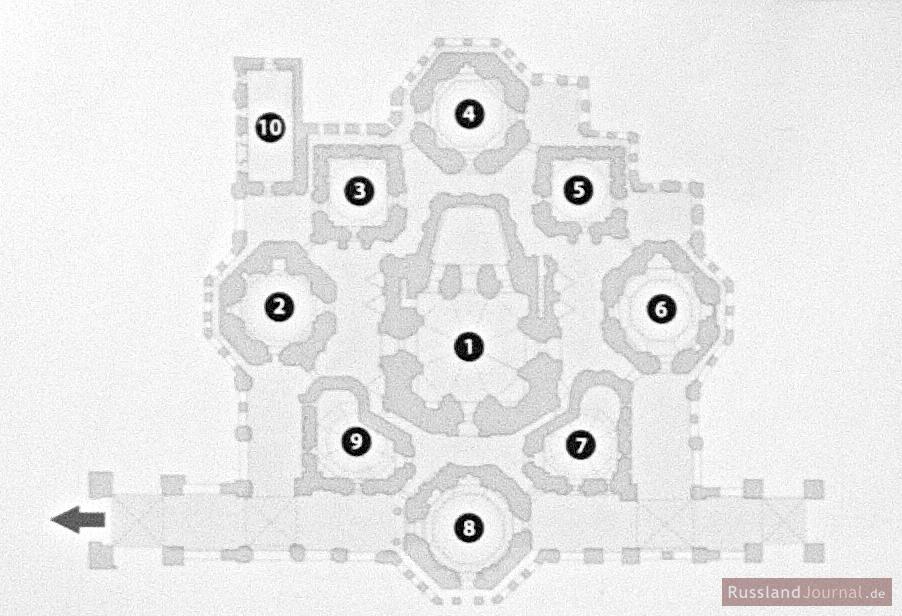 Basilius Kathedrale Grundriss