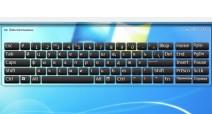 """Unten links auf das Windows-Logo klicken und im Textfeld """"osk"""" eintippen um die Bildschirmtastatur zu öffnen"""