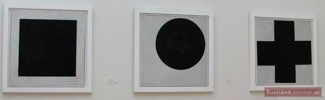 Drei Bilder von Kasimir Malewitsch
