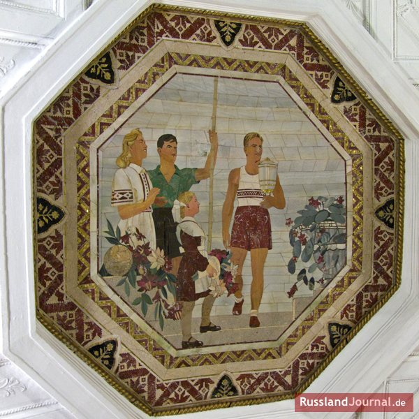 Mosaik in der Metro-Station in Moskau