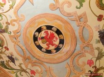 Deckenmalerei mit dem Greif, dem Wappentier der Familie Romanow