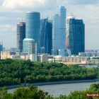 Hochhäuser im Moskauer Internationalen Businesszentrum Moscow-City