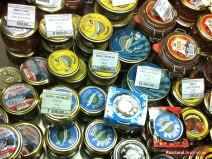 Russischer Kaviar in der Ladentheke