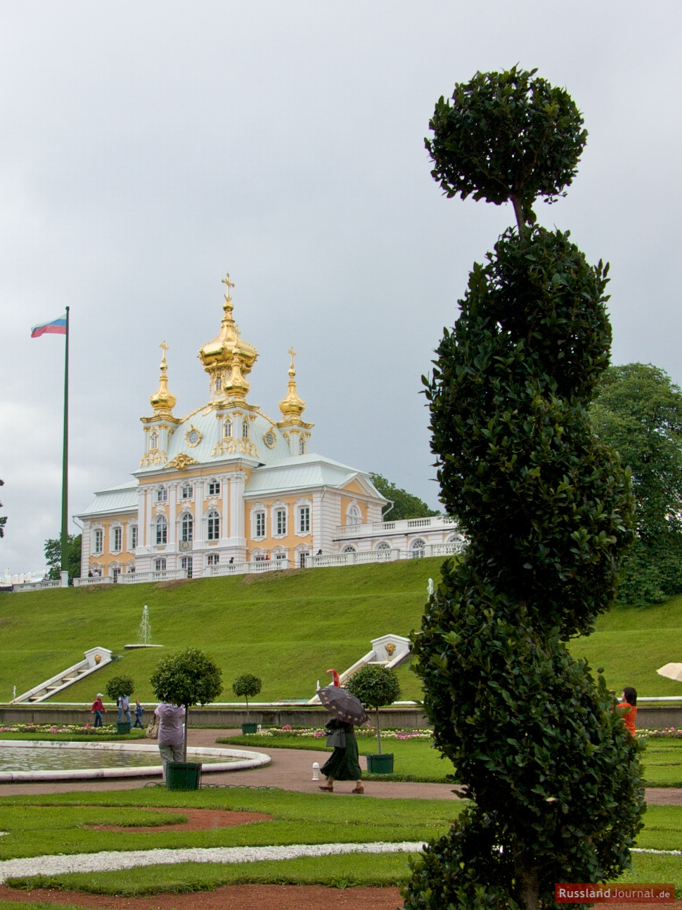 Palastkirche aus dem Park