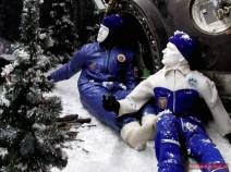 Kosmonauten nach einer ballistischen Landung
