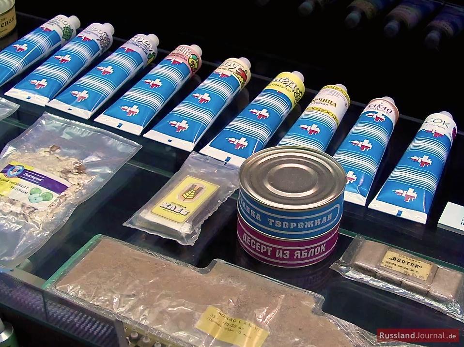 Abgepackte Kosmonauten-Nahrung