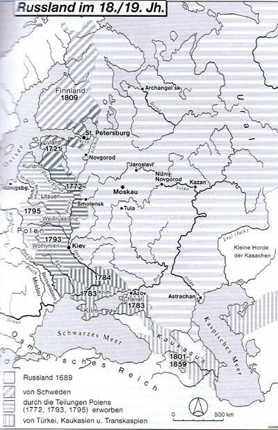 Kulturschock Russland 18./19. Jahrhundert