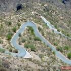 Straße mit scharfen Kurven