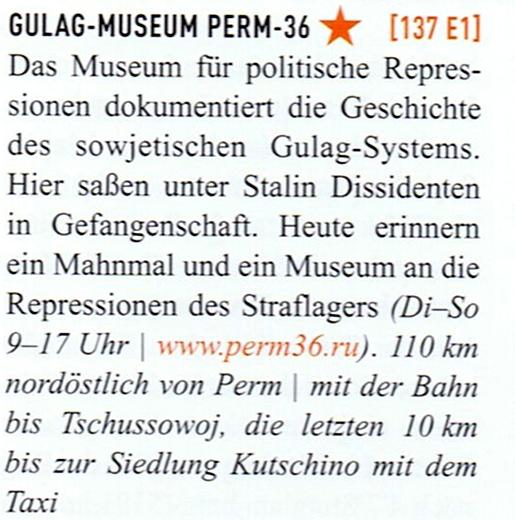 Marco Polo Russland Gulag-Museum