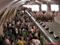 Menschen in der Moskauer Metro