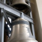 Glocken des Carillons im Glockenturm der Peter-Paul-Kathedrale
