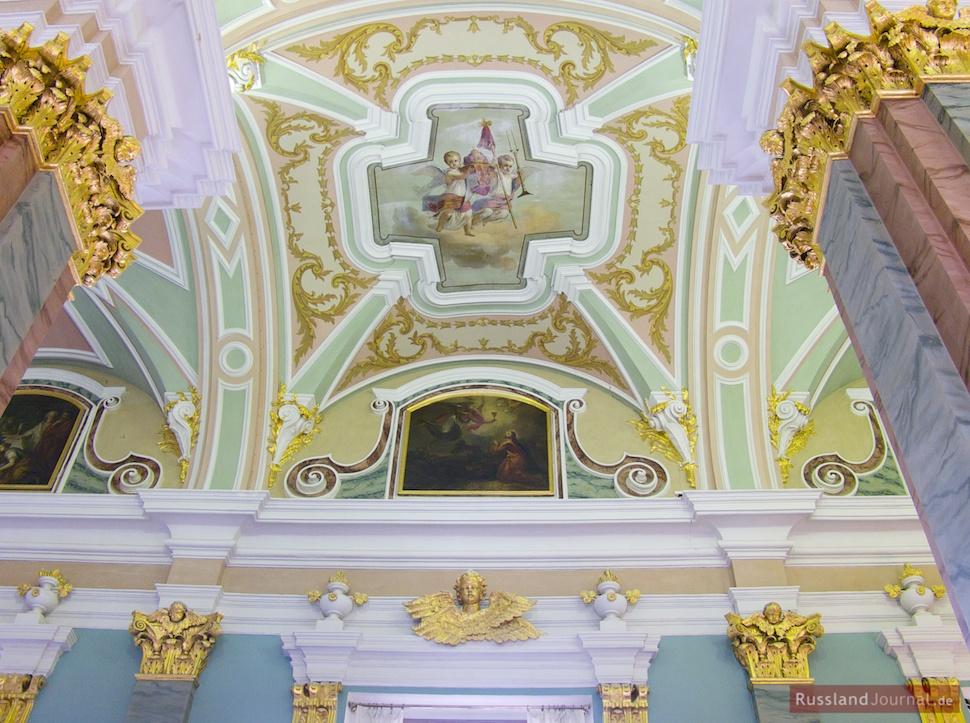 Deckenmalerei in der Peter-Paul-Kathedrale