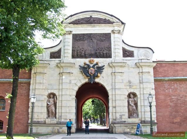 Peterstor: Das Haupttor der Peter-Paul-Festung