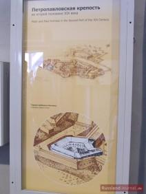 Peter-Paul-Festung und das Gefängnis in der 2. Hälfte des 19. Jh.