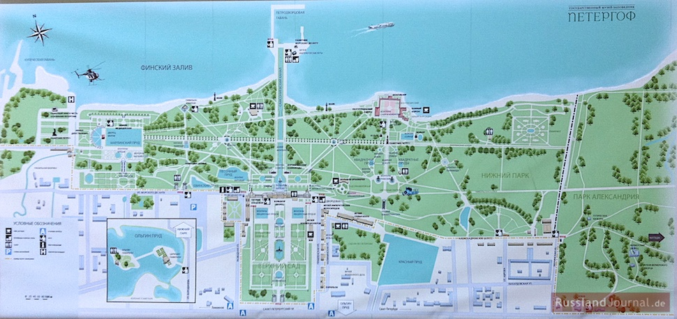 Peterhof: Plan der Anlage