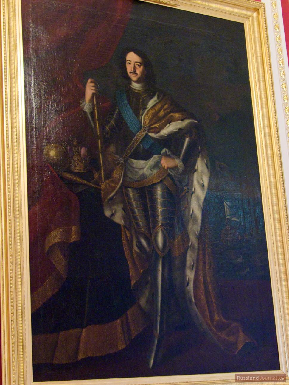 Portrait von Peter I., dem großen Vorbild von Paul I.