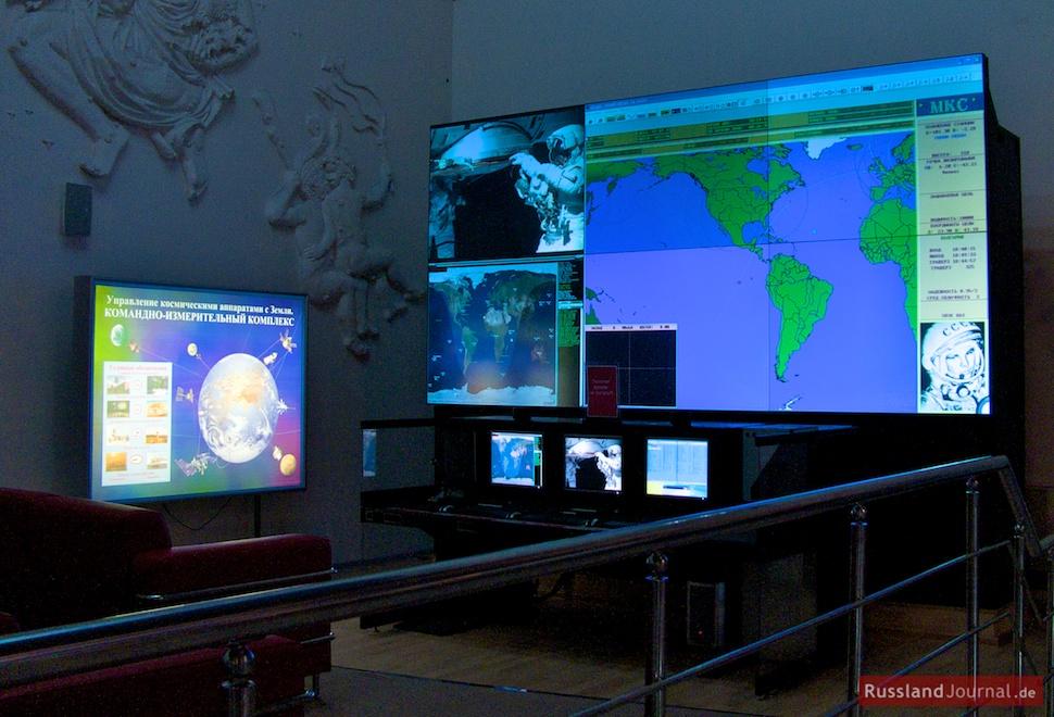 Raumfahrt-Kontrollzentrum in Miniatur