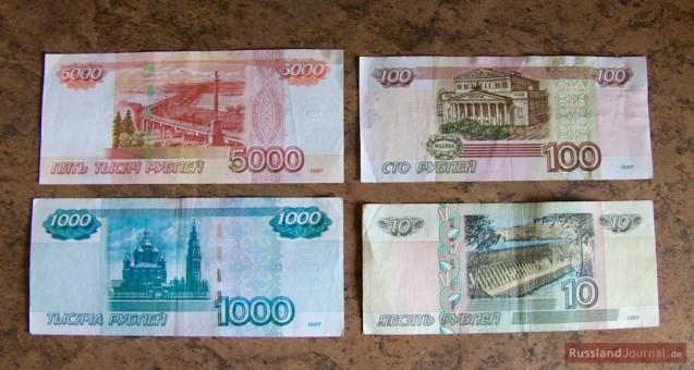 Russische Rubel Banknoten