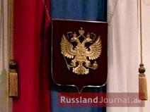 Russland Fahne mit Doppeladler