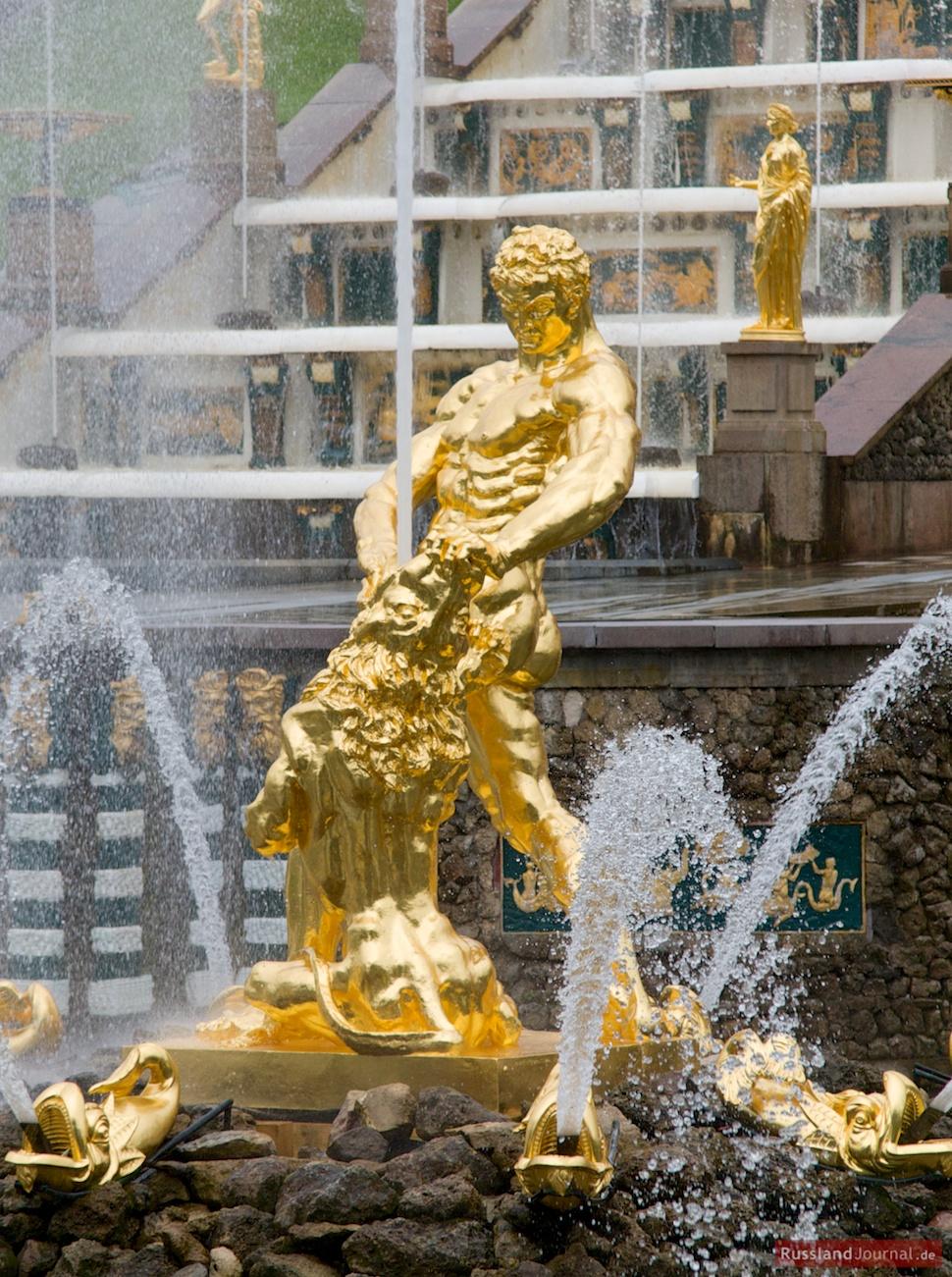 Die Samson-Fontäne in Peterhof