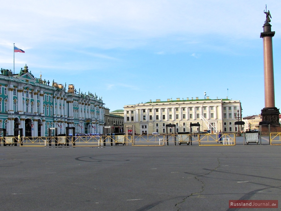 Abgesperrter Schlossplatz