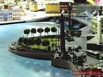 Spitze der Wassiljewskij Insel (Strelka) mit den Rostrasäulen in St. Petersburg
