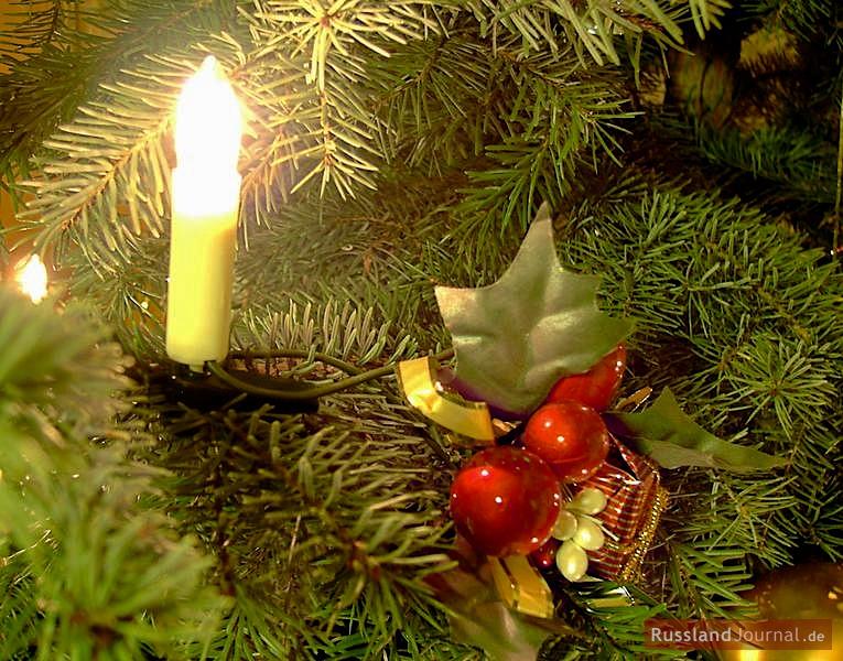 Weihnachtsbaum mit Kerze